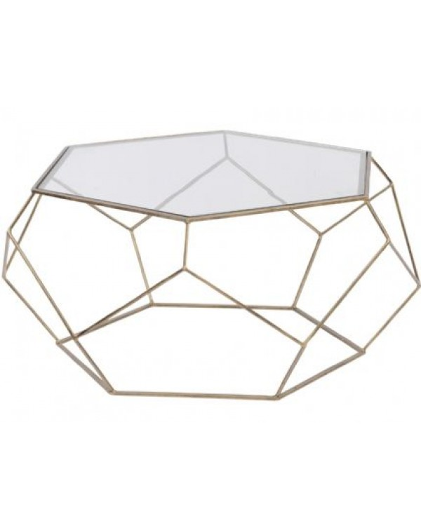 Platonic Antique Gold Coffee Table
